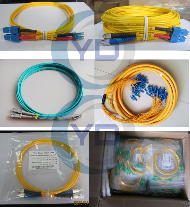 3D Passed optical patch cord SC / UPC - SC / UPC single mode fiber jumpers
