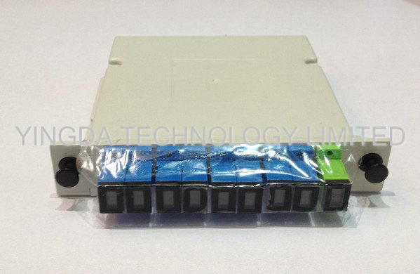 ISO Fiber Optic PLC Splitter Cassette Loaded With SC Connector , 1 Slot LGX Optic Spltiter