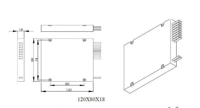 1:16 Fiber Optic Plc Splitter Box, Optical Fiber Splitter