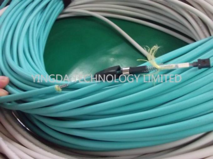 12 Fiber MTP Steel Armored Fiber Optical MTP MPO Cable Round , MTP Patch Cord