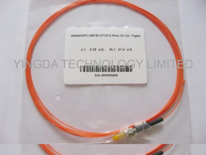 SMA905 ST / UPC Multimode Fiber Optic Patch Cord , Mm Duplex Fiber Optic Jumper
