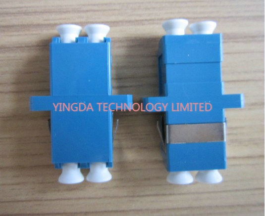 PBT Fiber Optic Adapter LC Duplex SC Footprint Type Blue Single Mode High Density