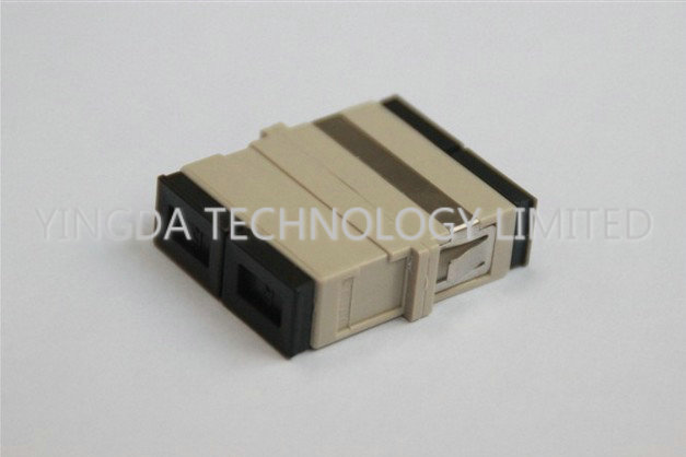 PBT White Plastic MM DX Fiber Optic Adapter / Coupler , SC Duplex Adapter