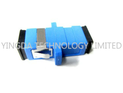 Single - mode Duplex Optic Fiber Adapter SC / UPC With Stainless Steel Clip