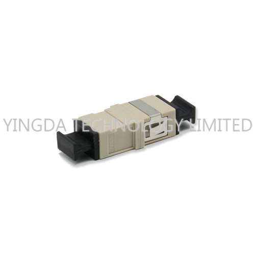 Durable OM2 Multimode Optical Fiber Coupler Without Flange SC Adapter Beige
