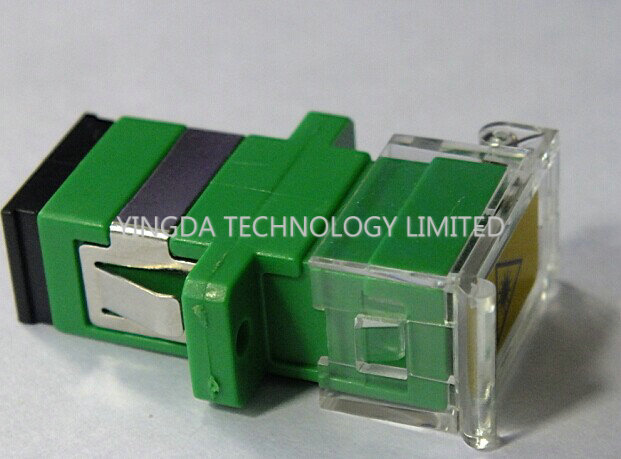 SC Fiber Optic Shutter Adapter With Transparent Plastic , Pathcord Assembly