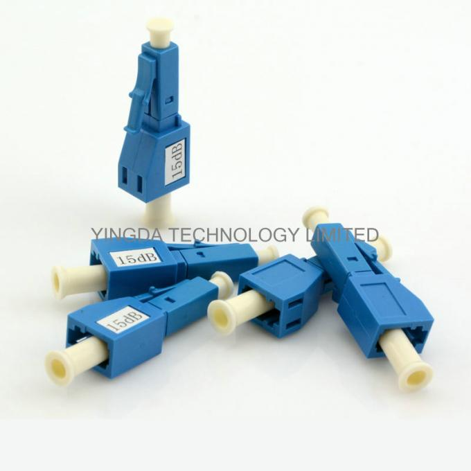 Plastic Single - Mode Fiber Optic Attenuator For LAN & WAN / FTTP Network