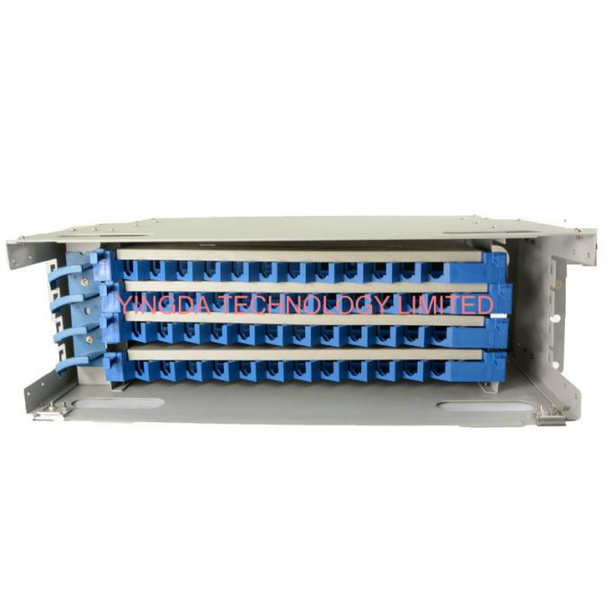 48 Cores Fiber Optic Patch Panel Cabinet Welding Tray 4 x 12F Rack Mounting