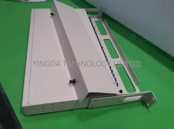SC Simplex 24 Port Fiber Patch Panel For FTTH FTTX FTTB ODN PON Network