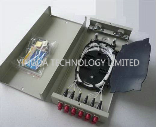 4 Port Fc St Fiber Optic Termination Box Metal Wall