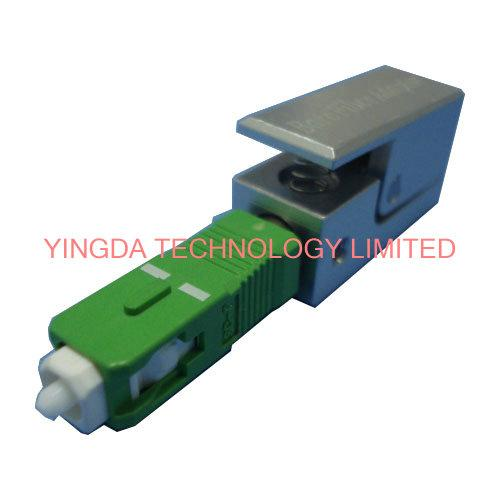 Square Fiber Optic Adapter SC SM / MM Simplex Blue Black Fiber Optic Coupler
