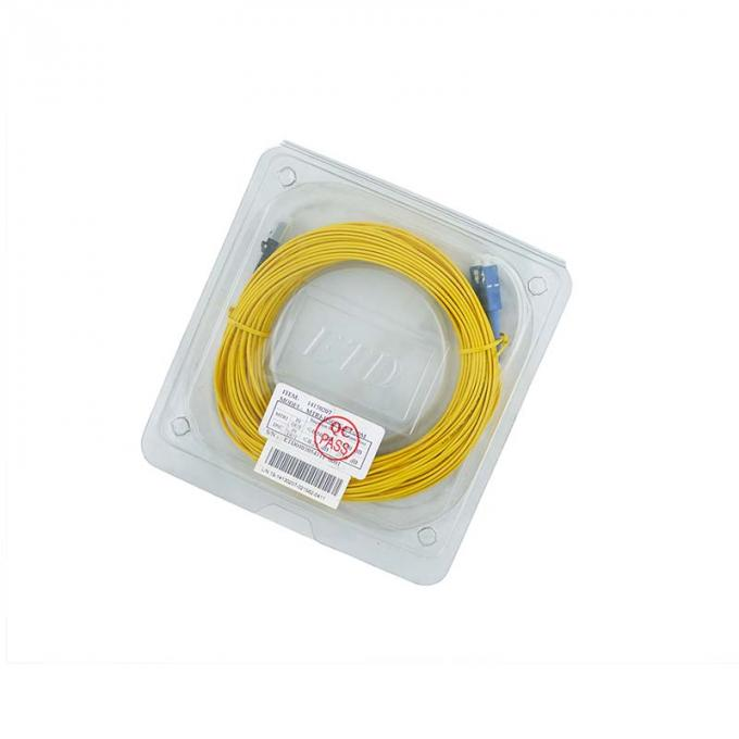 LC / APC Fiber Optic Patch Cord MT-RJ to SC Singlmode Duplex Zipcord Without Clip Yellow
