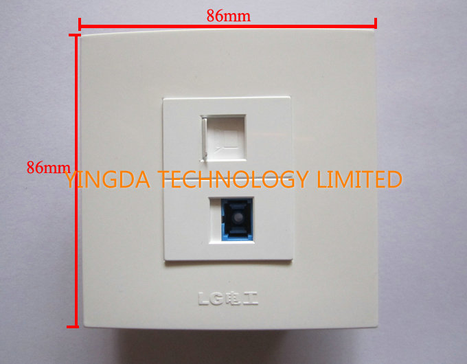 retardant network rj45 optical fiber cable outlet wall socket panel sc