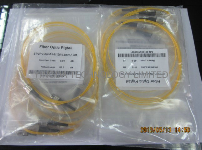 ST Pigtail Singlemode, Fiber Optic Pigtail ST SM 9/125 3M Loose Easy Peel Cable Jacket