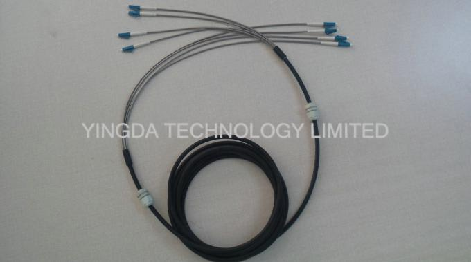 DLC 4 Core Fiber Optic Cable Assembly Outdoor Waterproof FTTA Base Sation