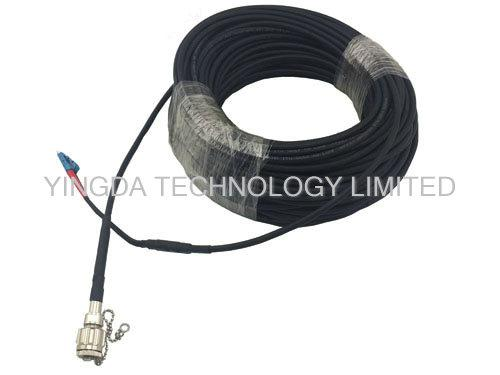 Outside Fiber Optic Patch Cables SC Duplex With ODC Male Connectors In FTTA Network