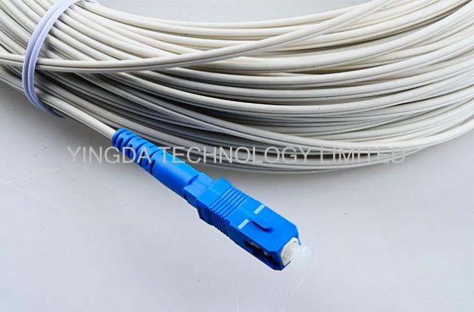 Indoor FTTH Fiber Optic Patch Cord 3M With SC / UPC Connectors FRP Strength Member
