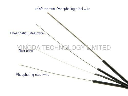 steel ftth fiber optic patch cord single mode sc connector simplex 200m black