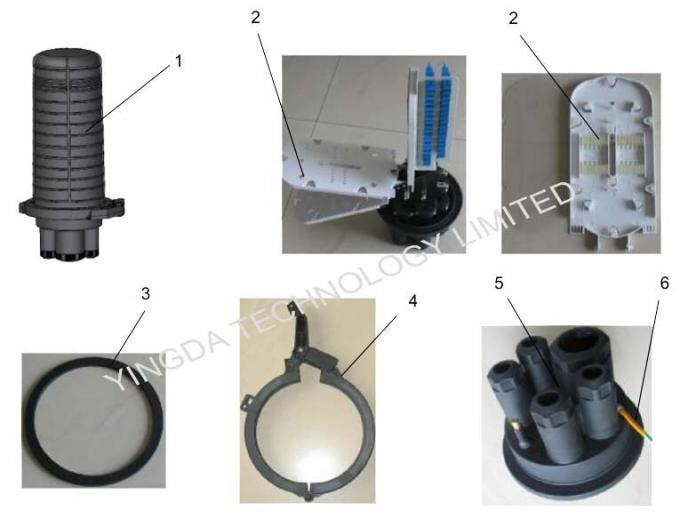 PP Mechanical  Fiber Cable Joint Box , Pole Mount Splice Fiber Optic Joint Box