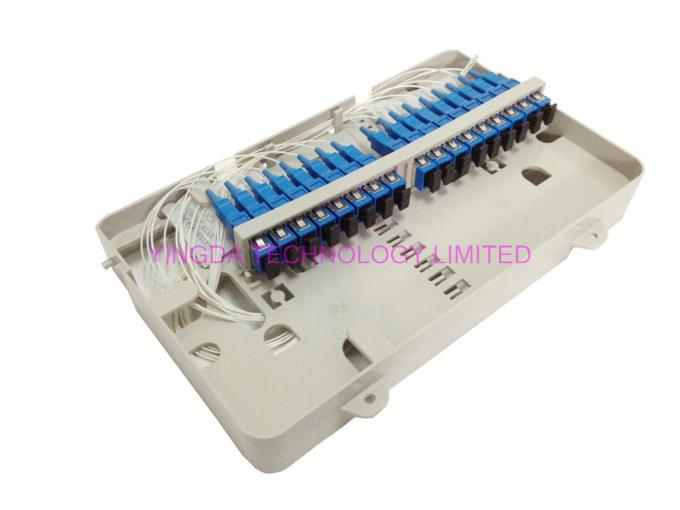 48 Cores Fusion Splice Fiber Optic Distribution Box 3 In 3 Out For Buffer Tube