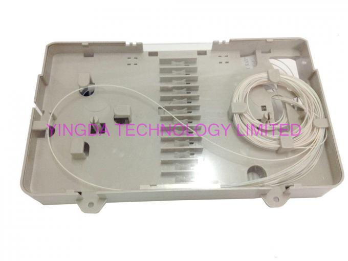 Wall Mounting Fiber Optic Enclosure FTTH GPON Mechanical Sealing With SC Adapters