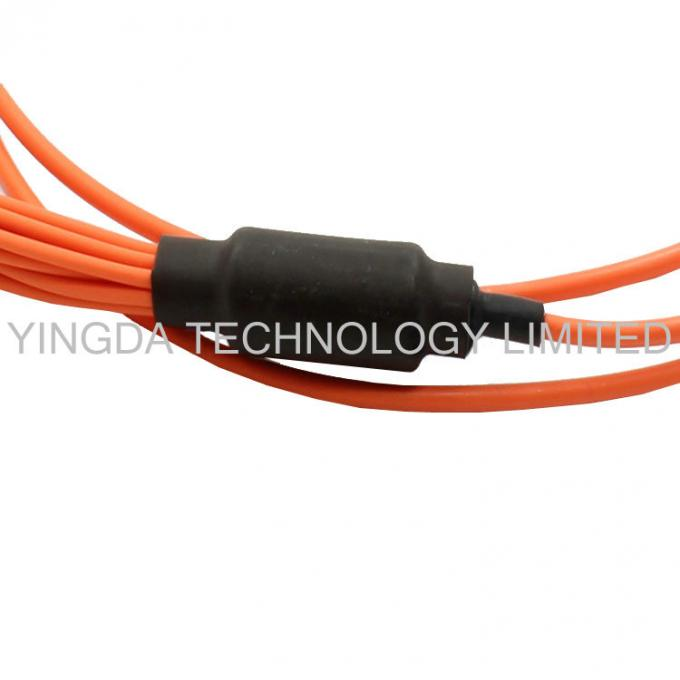 MTP to LC / SC / ST / FC Fiber Truck Cable , 12 Standard Harness Fiber Patch Cord
