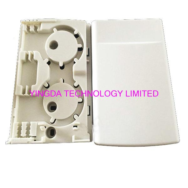 FTTH Fiber Optic Distribution Box Faceplate ABS Plastic White