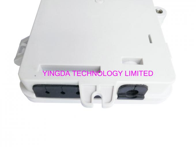 4 Port UV Weather Resistant FTTH Fiber Termination Box 4 Fibers SC Wall Mount Box