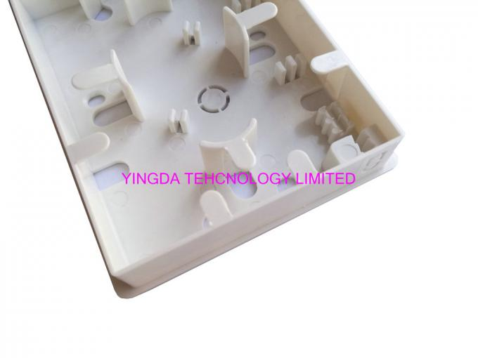 1 Port FTTH Box indoor Wall Mounting Resident Fiber Optical Distribution Box Faceplate