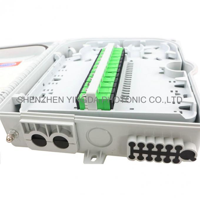 12 Cores 8 Cores FTTH Fiber Optic Termination Box / Distribution Box IP65 PLC Spiltter Distribution Box