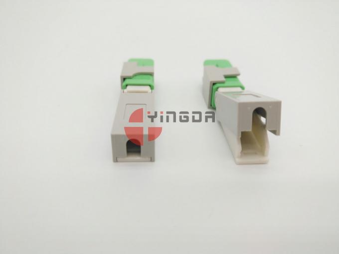 FTTH Fiber Optic SC APC Mechanical Connector Clamshell Pre polished Fiber For Drop Cable