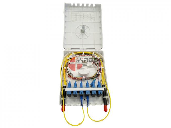 24 Cores Fiber Optic Termination Box 2 Ports At Both Side In Front