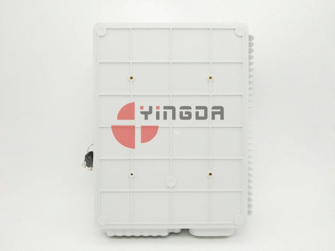 24 Ports Fiber Access Terminal Box with SC/UPC adapter Pigtails , 1*8 1*16 Splitter Distribution Box White