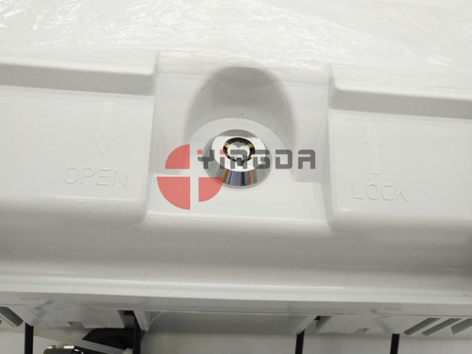 White Plastic Optical Termination Box Outdoor Wall Mount 24 Fibers With Bracket and Keys FAT-24