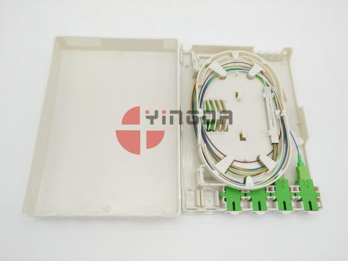 1 x 4 PLC Splitter Distribution Box Indoor Wall Mounted OTB With Dust-proof Cover