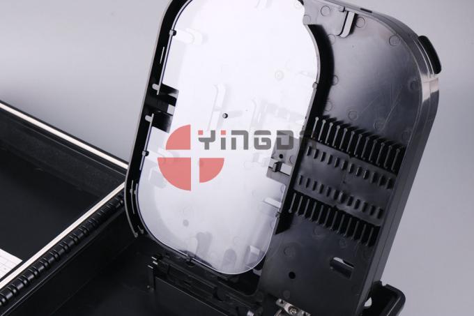 16 Outputs Fiber Optic Termination Box ABS+PC Black Uncut Cable ...