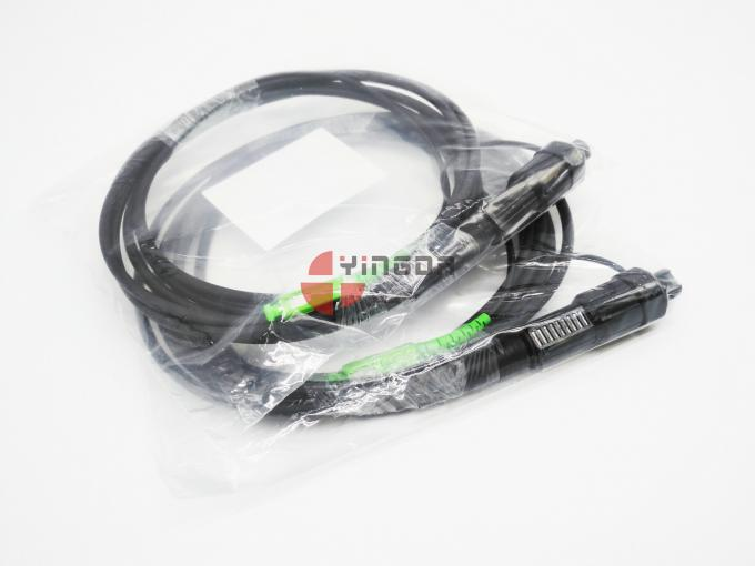 Waterproof Mini SC Reinforced Connector FTTA Patch Cord 7mm 3Mts LSZH black