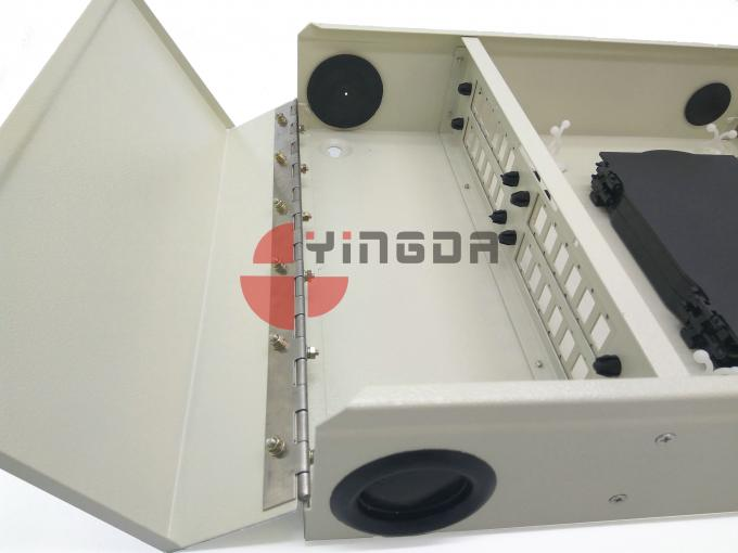 Outdoor Wall Mount 24 Cores Fiber Optic Distribution Box Metal