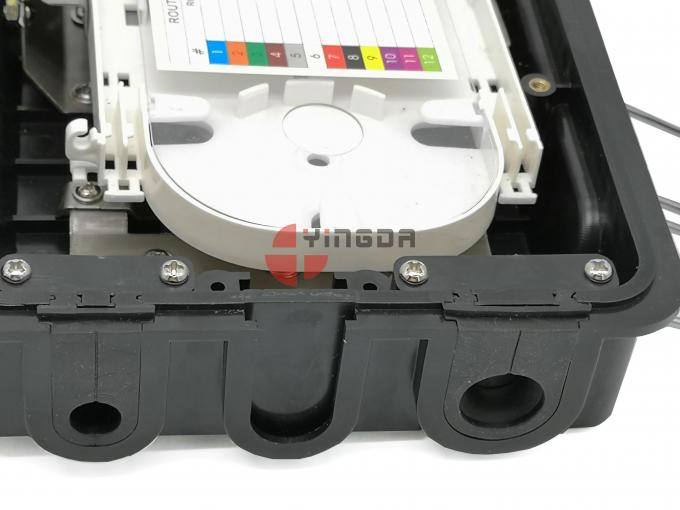FTTH Distribution Fiber Cable Joint Box Waterproof  8 Cores With LGX Module