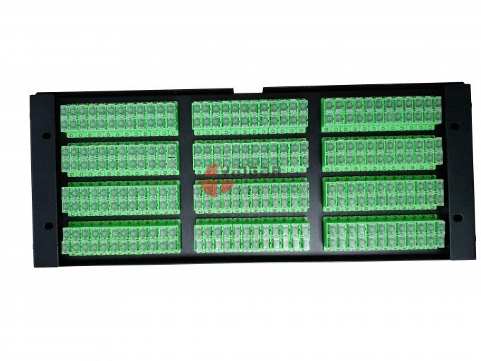 Cold Rolled Steel Fiber Patch Panel 288 Cores Slide Tray With SC Duplex Adapters