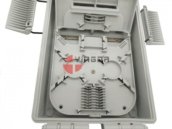 16 Ports FTTH Drop Cable Fiber Optic Distribution Box Pc Abs Total Enclosed Structure