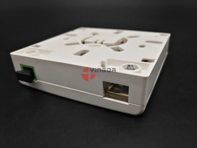 SC/APC Wall Mount Fiber Termination Box Socket Panel 2 Ports With Metal Cable Clamp
