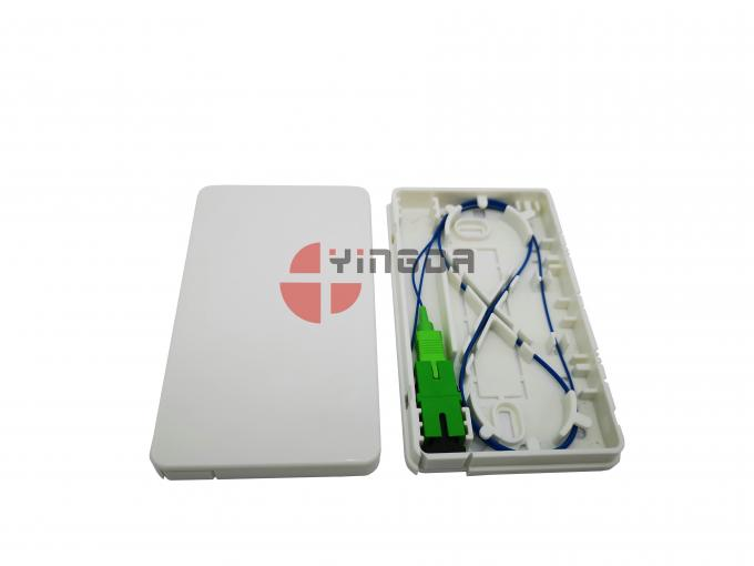 White FTTH Fiber Optic Termination Distribution Box SC LC ABS Faceplate Durable