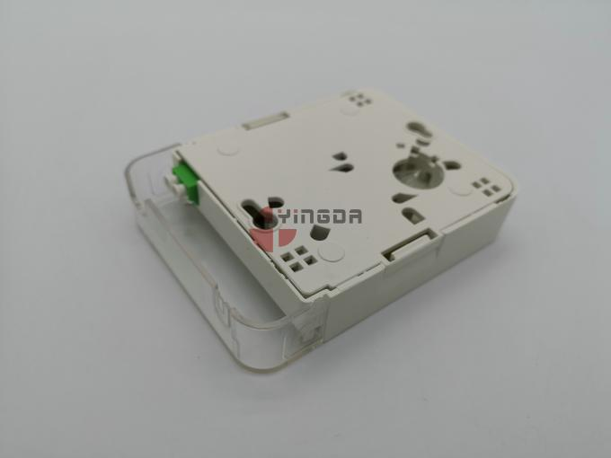 LC Fiber Optic Junction Box CPE Dustproof Face Plate Wall Outlet IP54 ABS PC