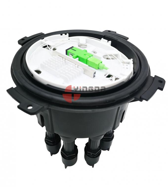 Black Fiber Optic Cable Joint Box FTTH PP SC/APC Filed Assembly Quick Connector IP68