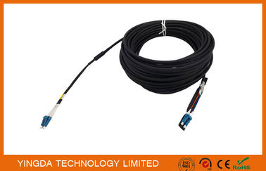 China Duplex DLC LC Fiber Optic Patch Cord Leads 5.0mm 2 Core Optical Cable Assembly supplier