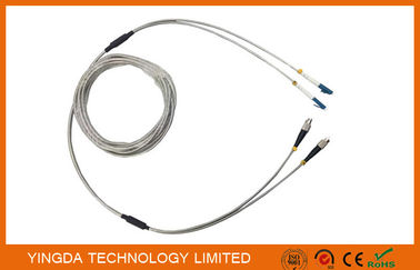 China Full Armored Outdoor Optic Fiber Patch Cord DLC 2 Core Optical Cable Assembly supplier