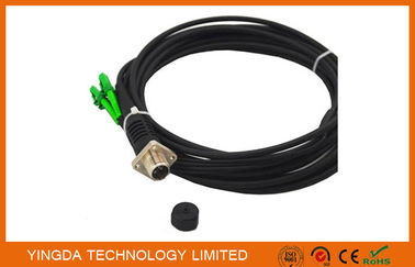 China ODC Female Black Fiber Optic Patch Cord 4 Cores LC Optical Cable supplier
