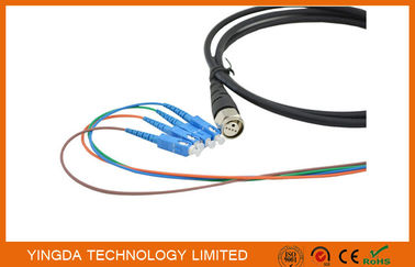 China FTTA Defense ODC Male 4 Cores Fiber Optic Patch Cord LC Waterproof supplier