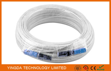 China 100 Meters Fiber Optic Patch Cord SC / SC SM SX Patch Cord FTTH Drop Cable factory
